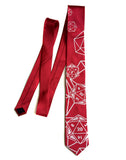 red d20 dice necktie, by cyberoptix