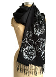black d20 scarf, by Cyberoptix