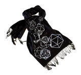 black d and d dice scarf