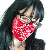 d20 Face Mask, DnD washable adjustable fabric face cover