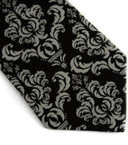 Black damask necktie