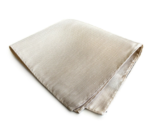 Light Khaki Linen Pocket Square. Solid Color, Davison