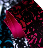 Papel Picado Necktie. Black on fuchsia