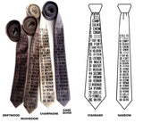 Bus Scroll Necktie: All Detroit Routes