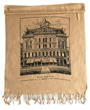 Black and tan Detroit Opera House & JL Hudson's linen-weave pashmina scarf