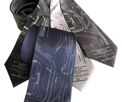 Detroit Subway Map Necktie, 1915 Vintage Map Print Tie
