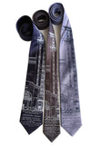 MCS Train Station Blueprint Neckties, by Cyberoptix