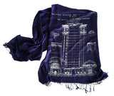 Navy Blueprint Scarf: Detroit Train Station, by Cyberoptix
