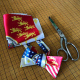 Modern Detroit City Flag Pocket Square, Detroit Gifts, by Cyberoptix