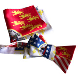 Detroit Flag Bow Tie and Pocket Square, by Cyberoptix