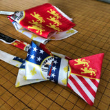 Detroit City Flag Pocket Square and Bow Tie, by Cyberoptix