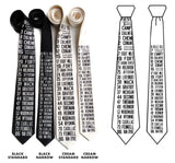Bus Scroll Necktie: All Detroit Routes, Silk