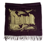 purple detroit michigan pashmina scarf