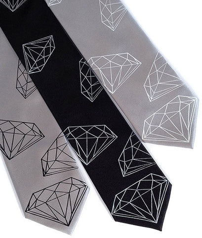 Diamond Print Silk Necktie