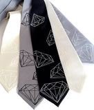 faceted jewel tie
