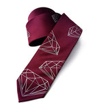 spiced wine wedding diamond tie