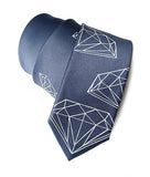 cut diamond necktie