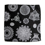 Diatom Pocket Square, Diatoms Botanical Print Hanky