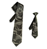 Olive green father and son dinosaur tie