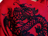 Red Chinese Dragon Print Scarf. By Cyberoptix