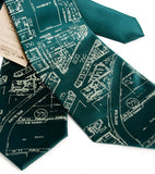 Emerald Green Eastern Market Map Ties