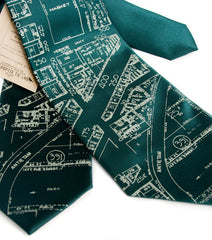 Detroit Map Necktie, Historic Eastern Market Tie