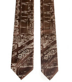 Brown Eastern Market map neckties, by Cyberoptix