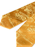 Golden Yellow Eastern Market Silk Ties, by Cyberoptix