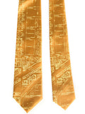 Gold Eastern Market Silk Ties, by Cyberoptix