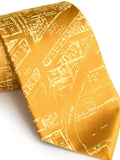 Mustard yellow Eastern Market Silk Ties, by Cyberoptix