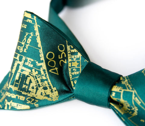 Detroit Map Bow Tie. Historic Eastern Market.