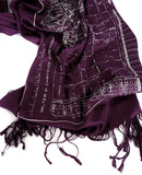 Eggplant purple Eastern Market Map scarf.