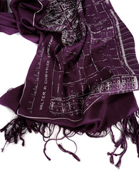 Detroit Map Pashmina, Historic Eastern Market Scarf