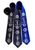 Blue Solar & Lunar Eclipse Neckties