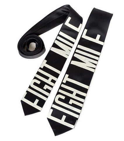 Bus Scroll Necktie: Eight Mile, Microfiber