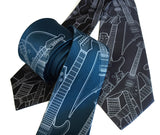 electric guitar necktie, by Cyberoptix