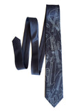 gunmetal grey guitar tie