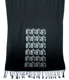 silver and black circuit board pashmina