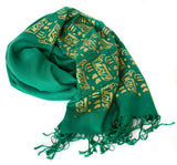 green circuit board scarf
