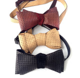 Automotive Leather Bow Ties