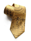 Honey gold Enigma Machine Patent Drawing Tie