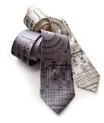 Enigma Machine Necktie, cryptographic patent drawing tie.