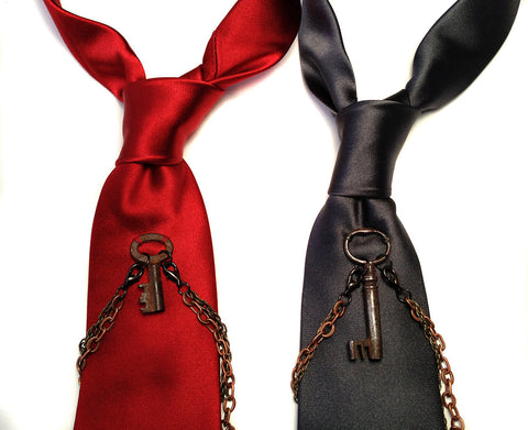 Escape Artist Narrow Silk Necktie