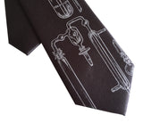 charcoal grey toddler chemistry clip-on tie
