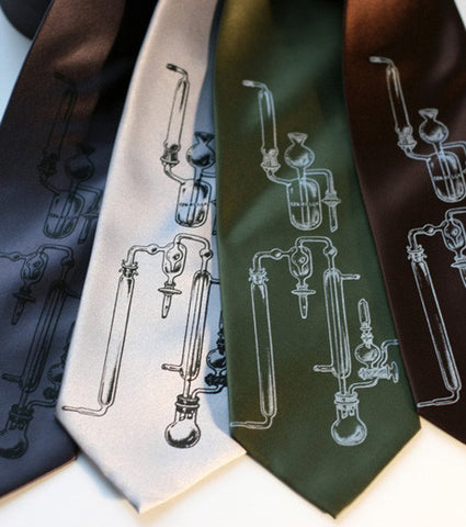 Chemistry Lab Glass Necktie, Experiment Tie