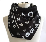 Black and white Eye Chart Scarf