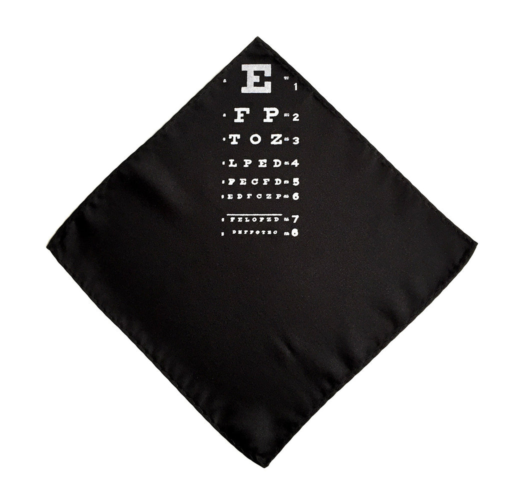 Eye chart print pocket square by cyberoptix tie lab eye chart pocket square nvjuhfo Image collections