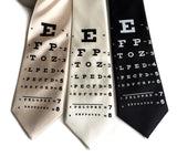 Eye Chart Silk Necktie