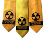 Fallout shelter necktie: black on mustard; gold; saffron.