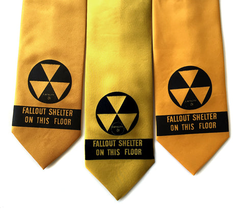 Fallout Shelter Necktie. Cold War Era Tie